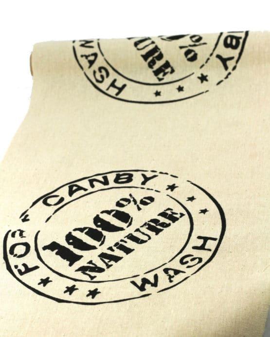 Baumwoll-Tischläufer Natural, 29 cm breit, 3 m Rolle - tischlaeufer, mit-druck-dekovlies, dekovlies