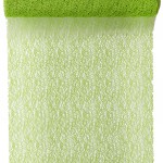 Tischläufer Grace, grün, 30 cm breit, 5 m Rolle