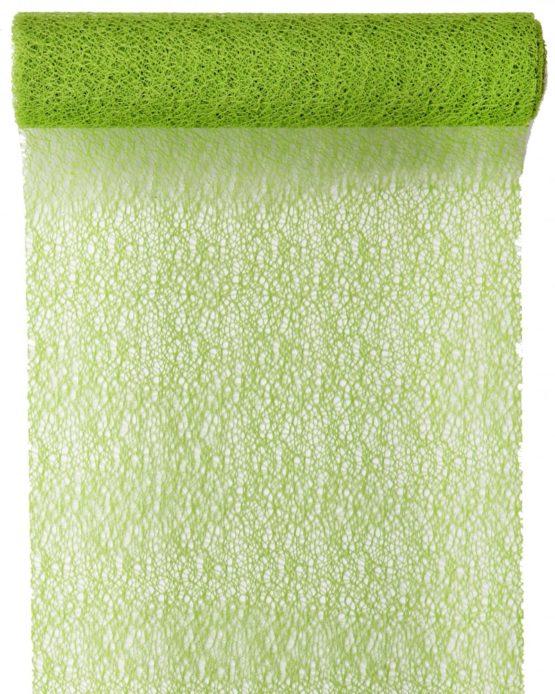 Tischläufer Grace, grün, 30 cm breit, 5 m Rolle - tischlaeufer, grace
