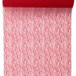 Tischläufer Grace, rot, 30 cm breit, 5 m Rolle