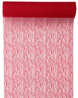 Tischläufer Grace, rot, 30 cm breit, 5 m Rolle - tischlaeufer, grace