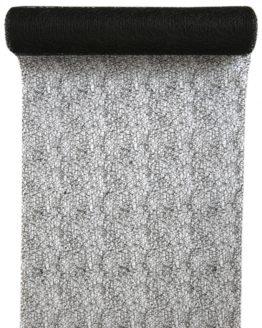 Tischläufer Grace, schwarz, 30 cm breit, 5 m Rolle - tischlaeufer, grace