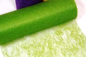 Deko Vlies Tischband 230 mm grün_banner -