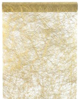 Deko Vlies-Tischläufer Sizo, gold, 30 cm breit, 5 m Rolle - tischlaeufer, dekovlies, basis