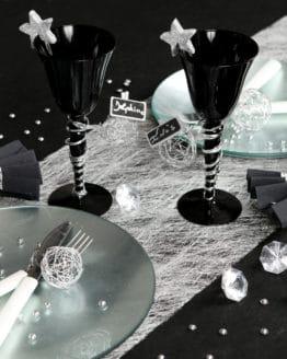 Deko Vlies-Tischläufer Sizo, silber, 30 cm breit, 5 m Rolle - tischlaeufer, dekovlies, basis