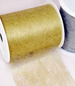 Dekovlies 10 cm breit in gold und silber
