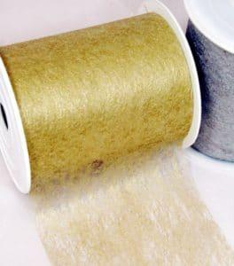 Dekovlies 10 cm breit in gold und silber -