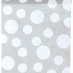 Dekovlies-Tischläufer Dots, grau, 30 cm breit, 5 m Rolle