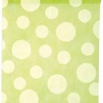 Dekovlies-Tischläufer Dots, grün, 30 cm breit, 5 m Rolle