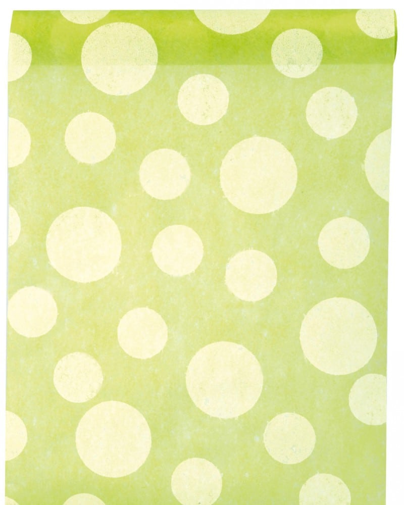 dekovlies tischl ufer dots gr n 30 cm breit 5 m rolle dekovlies discount dekovlies. Black Bedroom Furniture Sets. Home Design Ideas