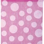 Dekovlies-Tischläufer Dots, pink, 30 cm breit, 5 m Rolle