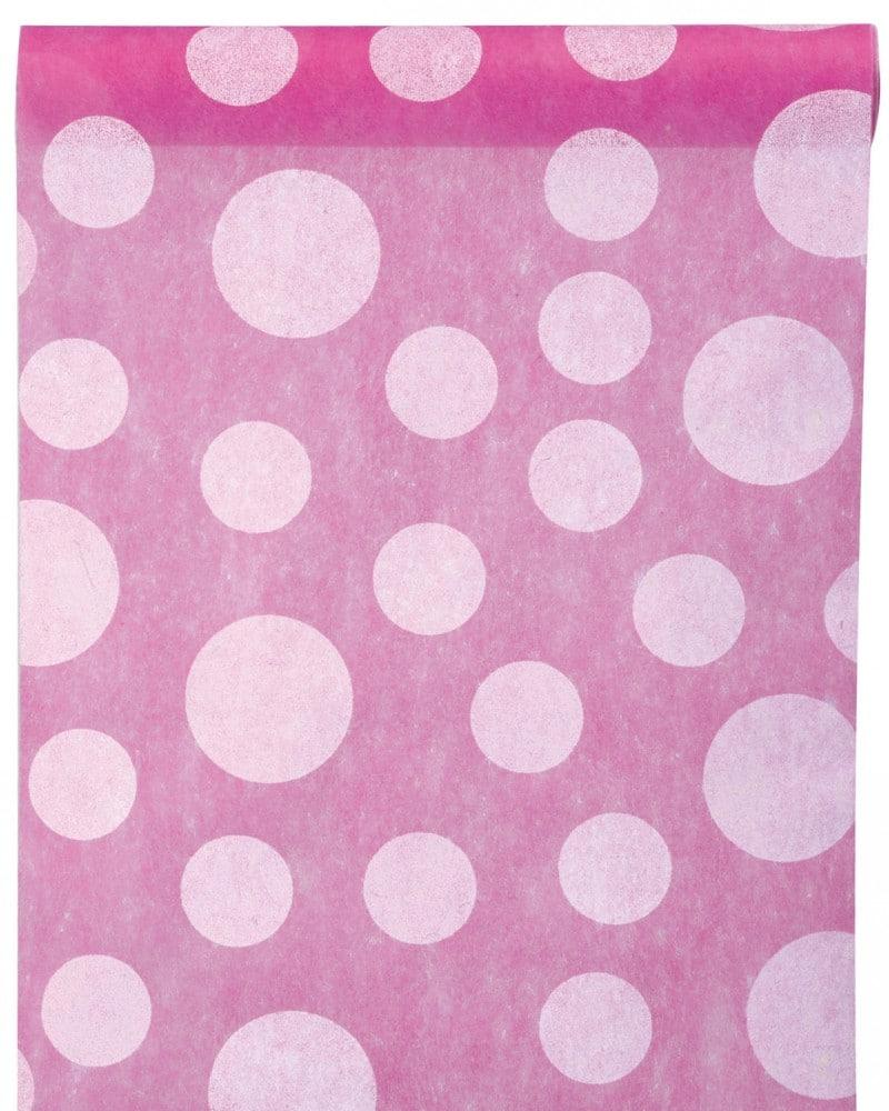 Dekovlies Tischlaufer Punkte pink 3375_15