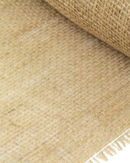 Jute-Tischläufer natur, 25 cm breit, 10 m Rolle - tischlaeufer, jute