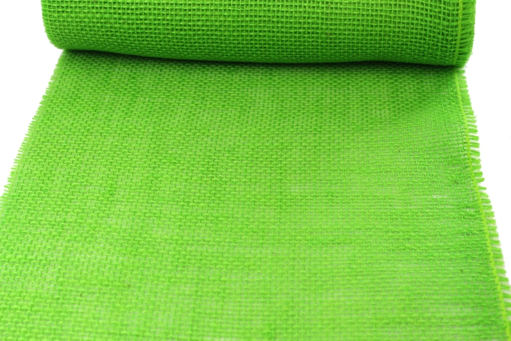 jute tischl ufer apfelgr n 30 cm breit 10 m rolle dekovlies discount. Black Bedroom Furniture Sets. Home Design Ideas