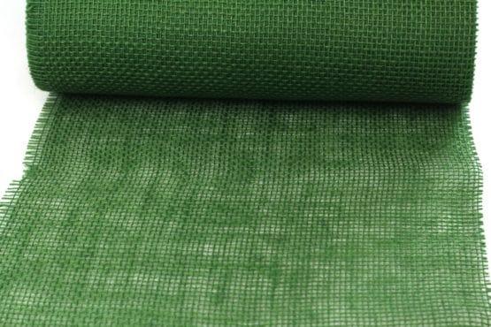 Jute-Tischläufer dunkelgrün, 30 cm breit, 10 m Rolle - tischlaeufer, jute