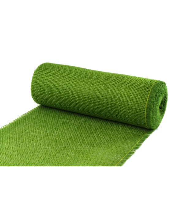 Jute-Tischläufer freshgreen, 30 cm breit, 10 m Rolle - tischlaeufer, jute