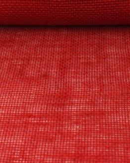 Jute-Tischläufer rot, 30 cm breit, 10 m Rolle - tischlaeufer, jute