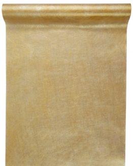 Vlies-Tischläufer gold metallisiert, 30 cm breit, 5 m Rolle - tischlaeufer, dekovlies, basis