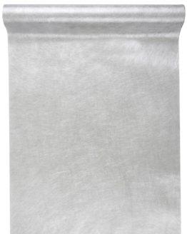 Vlies-Tischläufer silber metallisiert, 30 cm breit, 5 m Rolle - tischlaeufer, dekovlies, basis