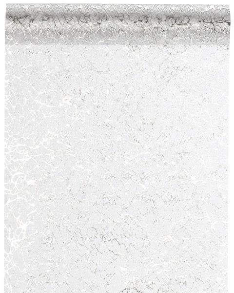 Organza-Tischläufer Crystals, silber, 28 cm breit, 5 m Rolle - tischlaeufer, organza-tischlaeufer, mit-druck