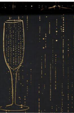 Organza Tischlaufer Sekt Champagner schwarz 4634_11