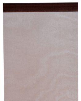 Organza-Tischläufer schokobraun, 28 cm breit, 5 m Rolle - tischlaeufer, organza-tischlaeufer