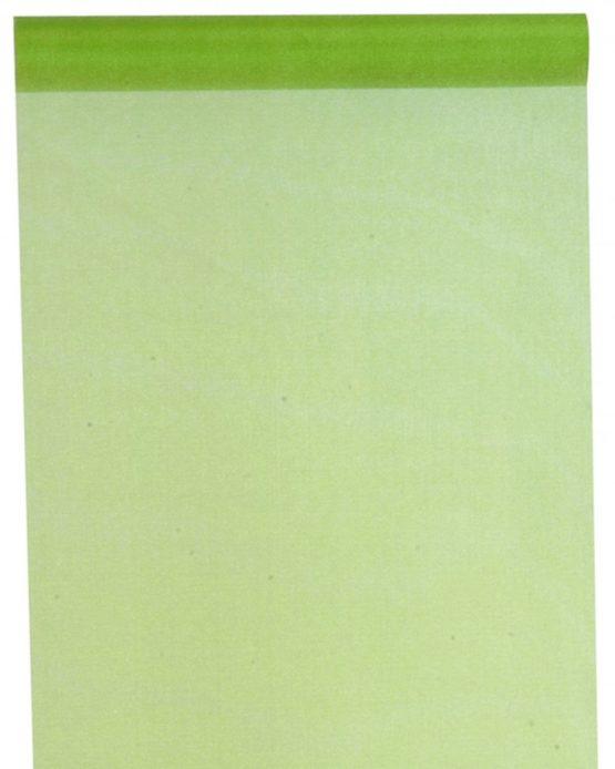 Organza-Tischläufer grün, 28 cm breit, 5 m Rolle - tischlaeufer, organza-tischlaeufer