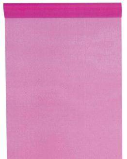 Organza-Tischläufer pink, 28 cm breit, 5 m Rolle - tischlaeufer, organza-tischlaeufer