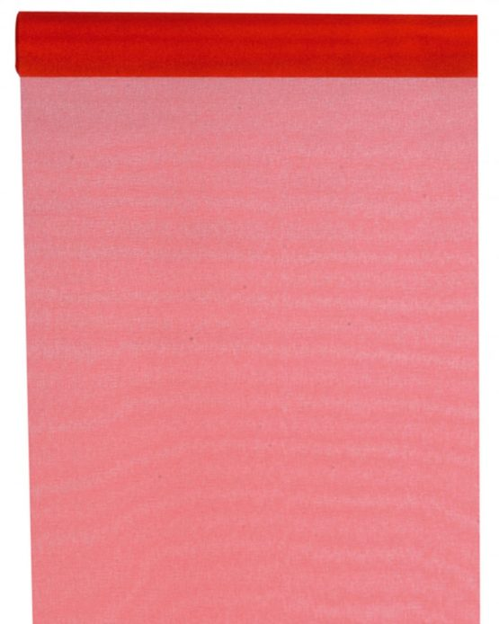 Organza-Tischläufer rot, 28 cm breit, 5 m Rolle - tischlaeufer, organza-tischlaeufer