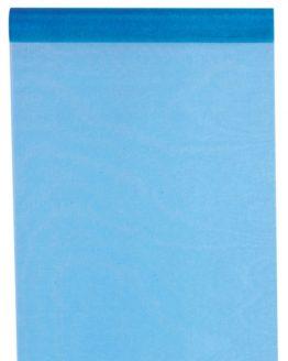 Organza-Tischläufer türkis, 28 cm breit, 5 m Rolle - tischlaeufer, organza-tischlaeufer