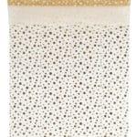 Organza-Tischläufer Glitter, gold, 28 cm breit, 5 m Rolle