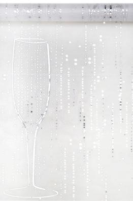 Organzatischlaufer Sekt Champagner weiss 4634_1