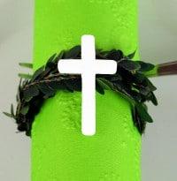 Kommunion / Konfirmation Kreuz weiss -