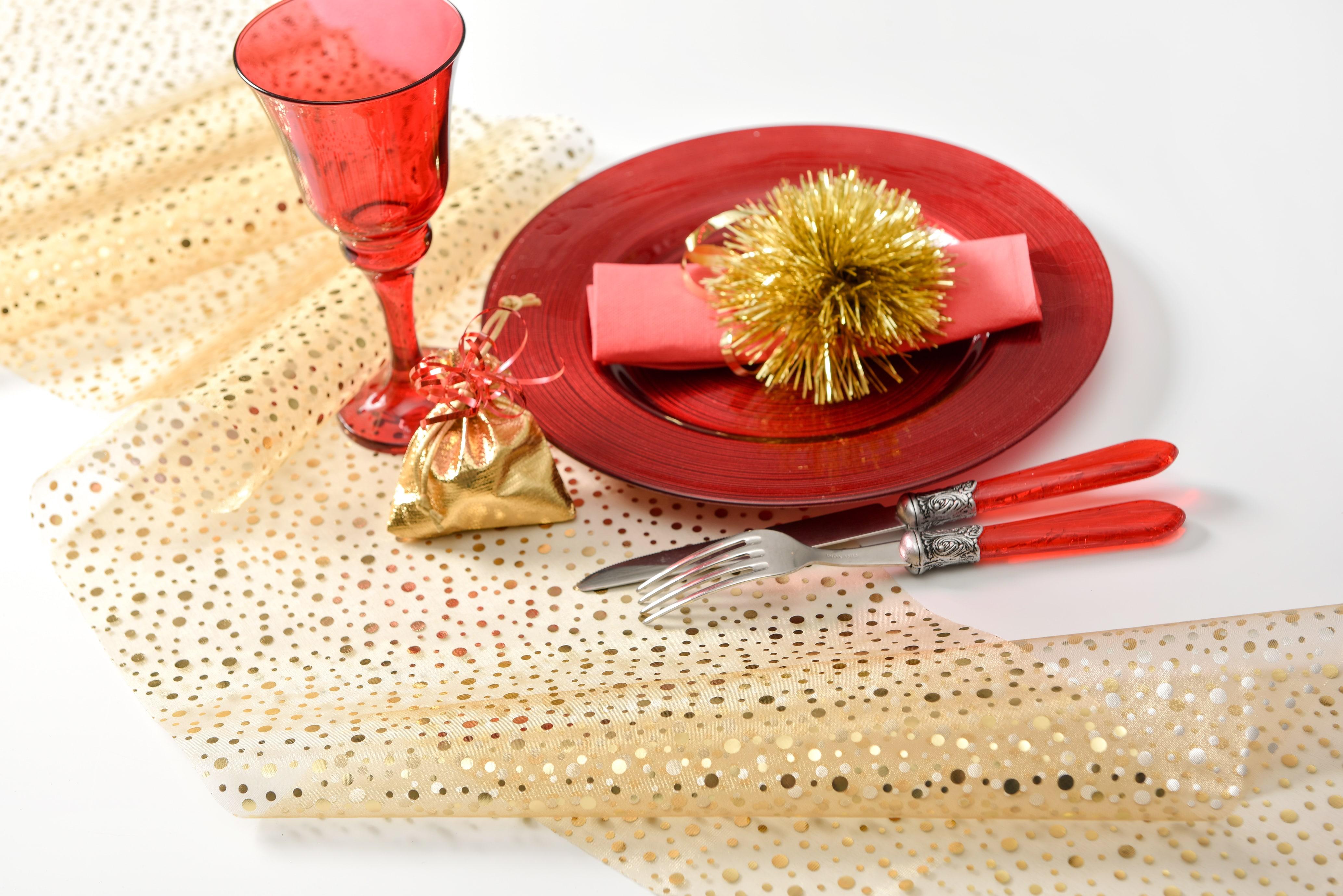 organza tischl ufer glitter gold 28 cm breit 5 m rolle dekovlies discount dekovlies. Black Bedroom Furniture Sets. Home Design Ideas