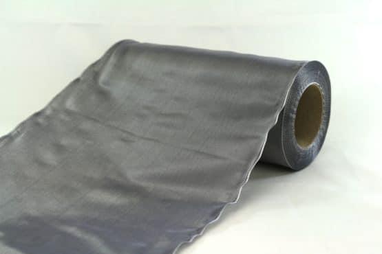 Tischband Changé, grau, 20 cm breit, 20 m Rolle - tischband