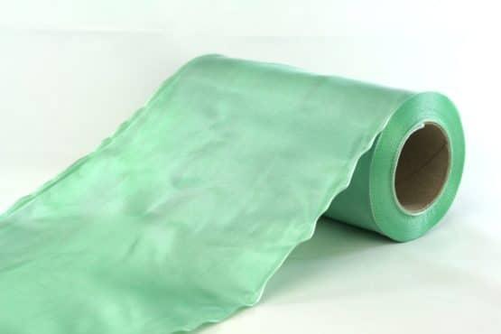 Tischband Changé, grün, 20 cm breit, 20 m Rolle - tischband