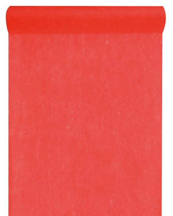 Vlies-Tischläufer BUDGET 30 cm breit, rot, 10 m Rolle - tischlaeufer, dekovlies, budget