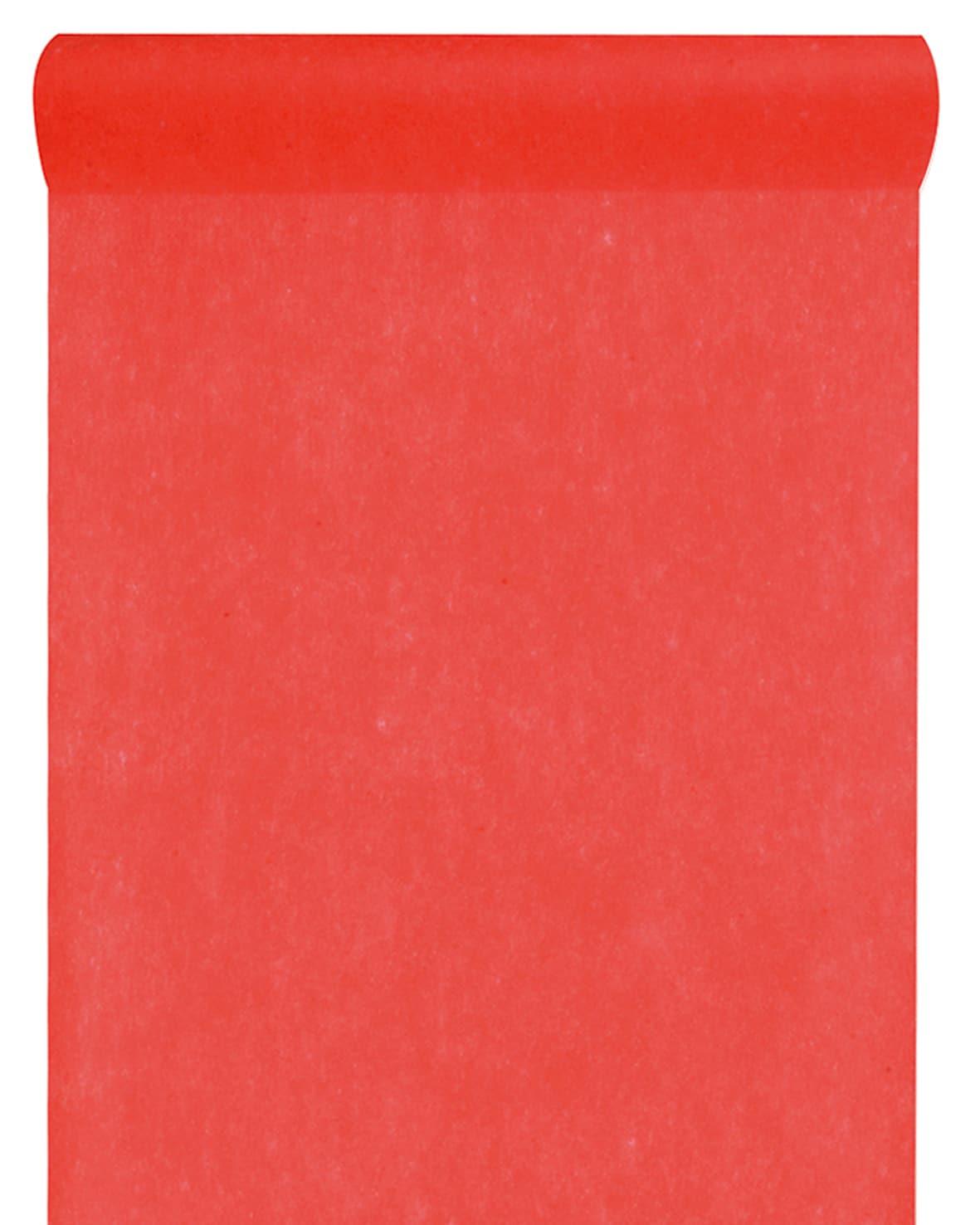 Vlies Tischlaeufer 30cm rot (2810_7)