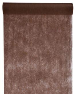 Vlies-Tischläufer BUDGET 30 cm breit, schokobraun, 10 m Rolle - tischlaeufer, dekovlies, budget