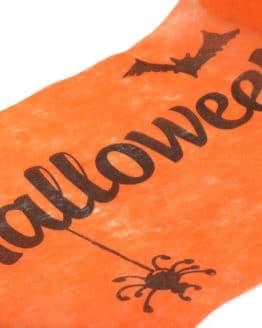 Vlies-Tischläufer Halloween, orange, 30 cm breit, 5 m Rolle - tischlaeufer, mit-druck-dekovlies, dekovlies