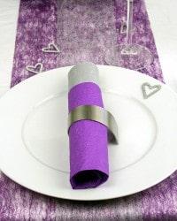 Vlies Tischband für die Hochzeitsdekoration oder Silberhochzeit